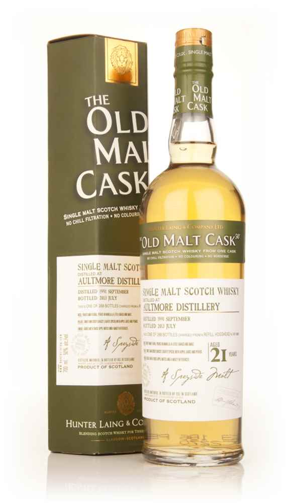Aultmore 21 Year Old 1991 (cask 9869) - Old Malt Cask (Hunter Laing)
