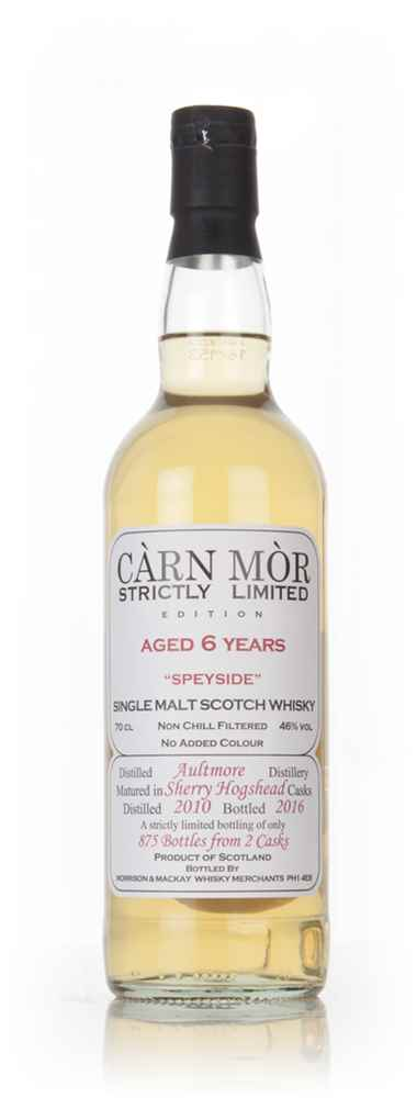 Aultmore 6 Year Old 2010 - Strictly Limited (Càrn Mòr)