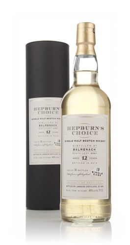 Balmenach 12 Year Old 2001 - Hepburn's Choice (Langside)