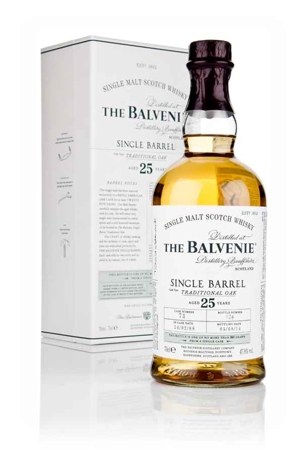 Balvenie 25 Year Old Single Barrel Traditional Oak Whisky - Master of Malt