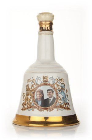 Bells Prince Andrew and Miss Sarah Ferguson 1986 Decanter (nearly empty)
