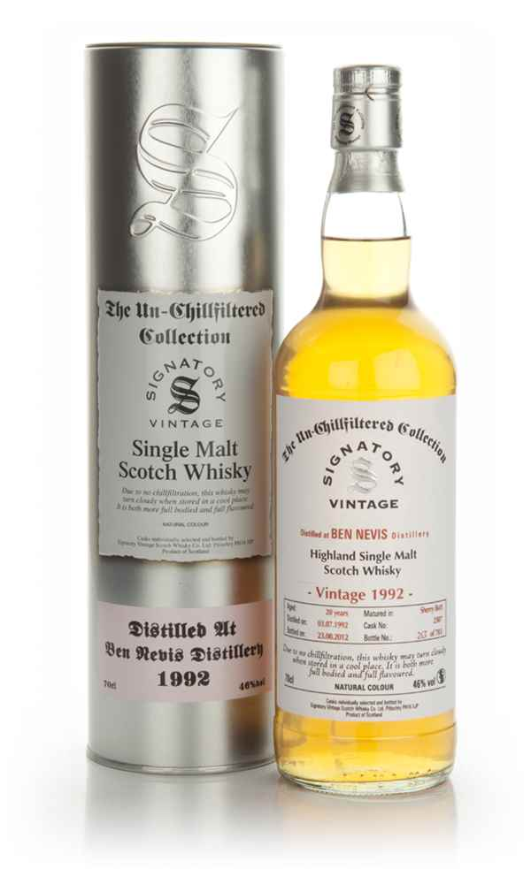 Ben Nevis 20 Year Old 1992 - Un-Chillfiltered (Signatory)
