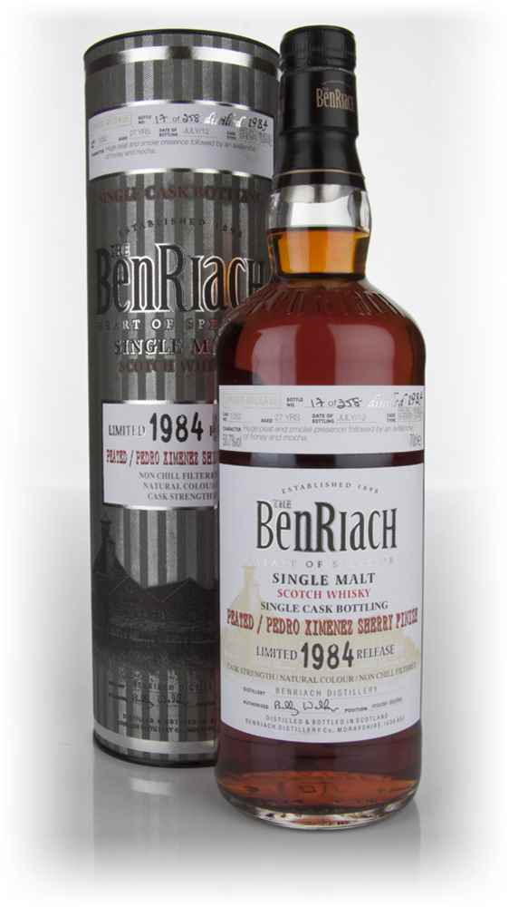 BenRiach 27 Year Old 1984 Peated Pedro Ximénez Cask Finish