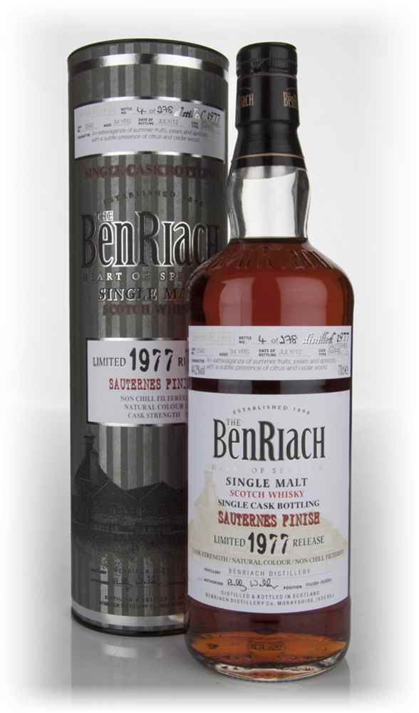BenRiach 34 Year Old 1977 Sauternes