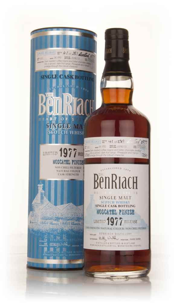 BenRiach 36 Year Old 1977 (cask 1031) - Moscatel Cask Finish