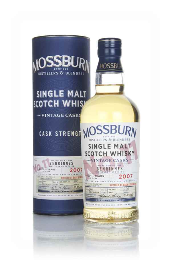 Benrinnes 11 Year Old 2007 - Cask Strength (Mossburn)