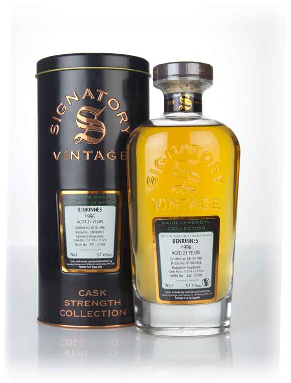 Benrinnes 21 Year Old 1996 (casks 11724 & 11726) - Cask Strength Collection (Signatory)