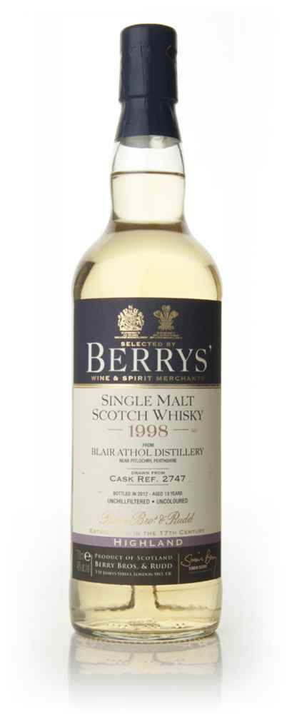 Blair Athol 13 Year Old 1998 (Berry Bros. & Rudd)