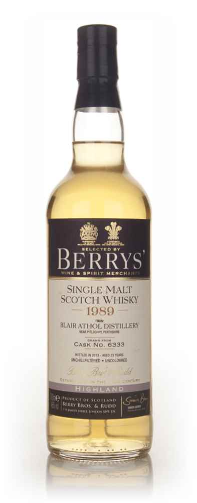Blair Athol 23 Year Old 1989 (cask 6333) - (Berry Bros. & Rudd)