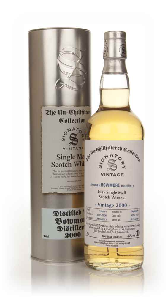 Bowmore 13 Year Old 2000 (casks 1427+1428) - Un-Chillfiltered (Signatory)