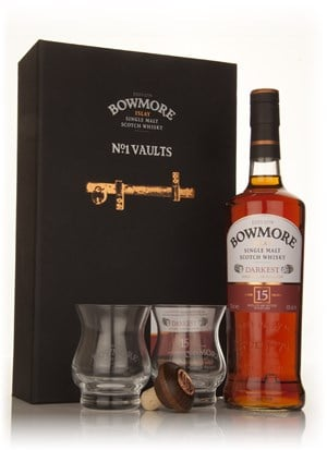 Bowmore 15 Year Old Darkest No.1 Vaults Gift Set