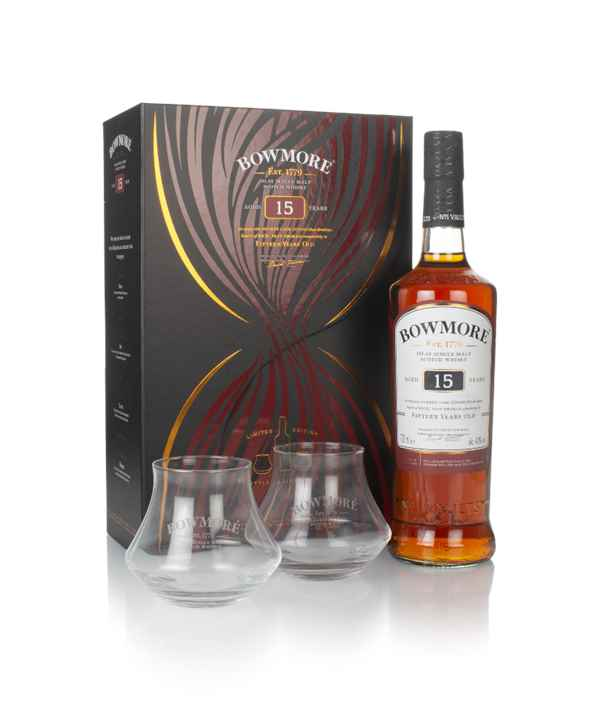 Bowmore 15 Year Old Gift Pack with Decanter