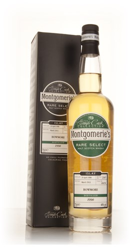 Bowmore 22 Year Old 1990 (cask 185078) - Rare Select (Montgomerie's)