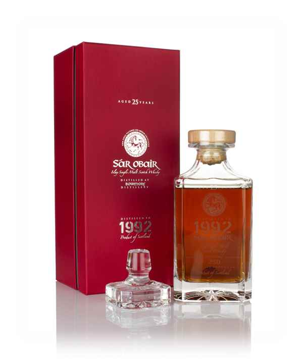 Bowmore 25 Year Old 1992 - Sar Obair Decanter (Kingsbury)