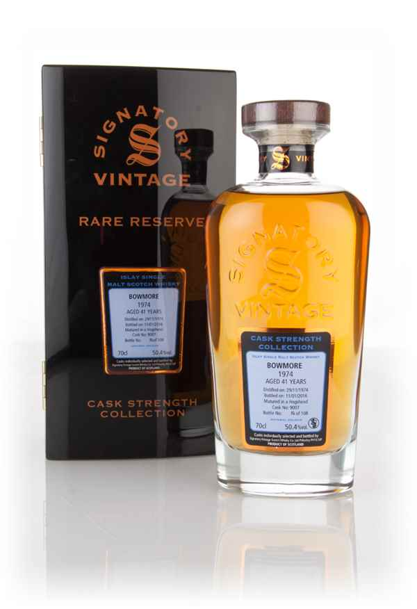 Bowmore 41 Year Old 1974 (cask 9007) - Cask Strength Collection Rare Reserve (Signatory)