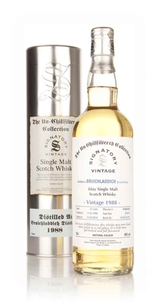 Bruichladdich 22 Year Old 1988 - Un-Chillfiltered (Signatory)