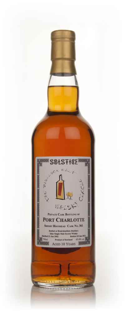 Port Charlotte 10 Year Old 2002 (cask 361) - Solstice (Basildon Malt Whisky Circle)