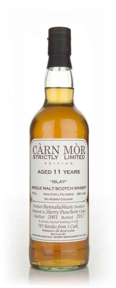 Bunnahabhain 11 Year Old 2001 - Strictly Limited (Càrn Mòr)