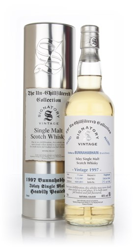 Bunnahabhain 15 Year Old 1997 Heavily Peated - Un-Chillfiltered (Signatory)