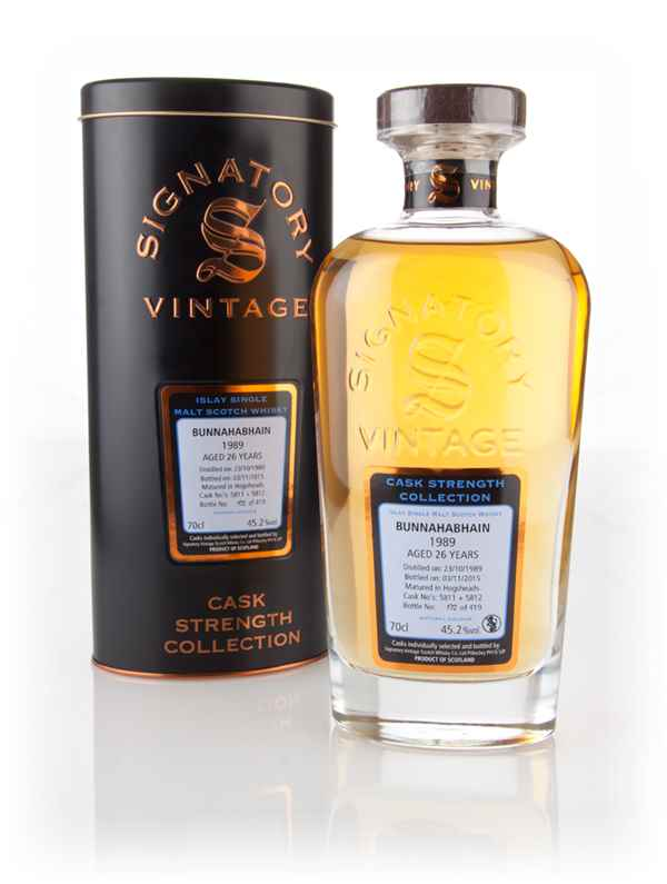 Bunnahabhain 26 Year Old 1989 (casks 5811 & 5812) - Cask Strength Collection (Signatory)