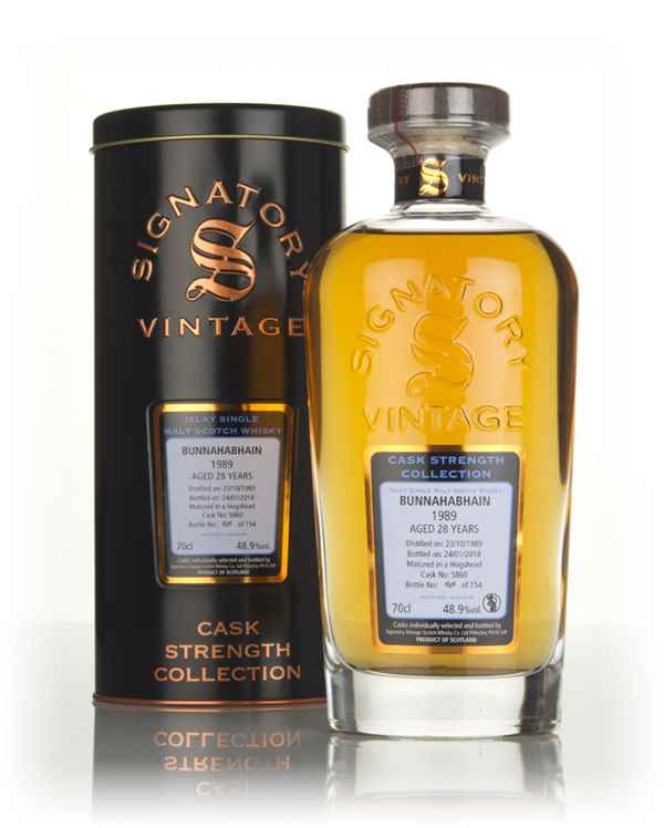 Bunnahabhain 28 Year Old 1989 (cask 5860) - Cask Strength Collection (Signatory)