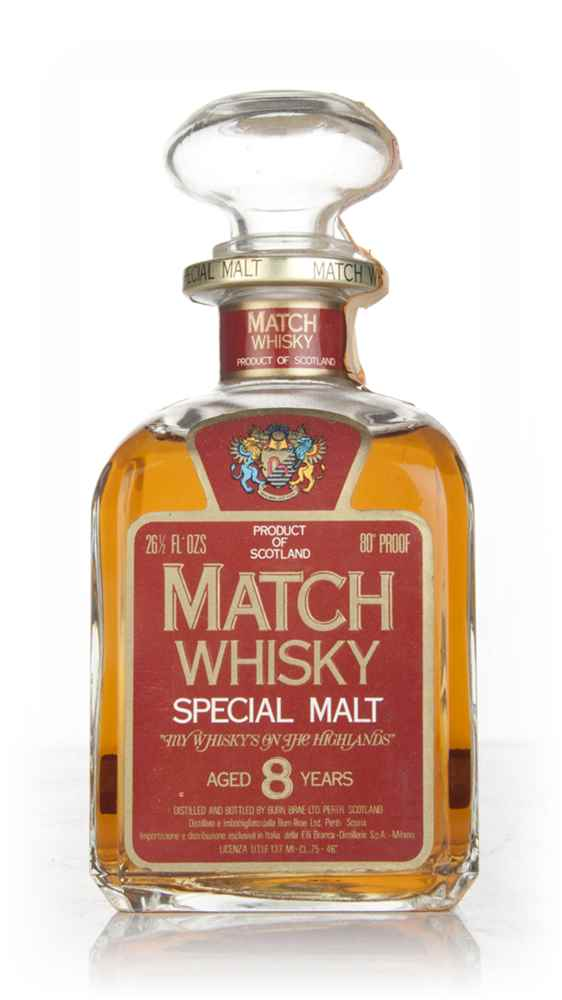 Match Whisky 8 Year Old 46% - 1970s