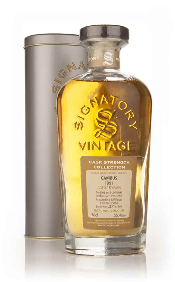 Cambus 18 Year Old 1991 (cask 55884) - Cask Strength Collection (Signatory)