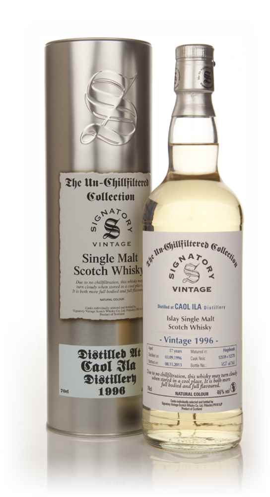 Caol Ila 17 Year Old 1996 (casks 12559+12570) - Un-Chillfiltered (Signatory)