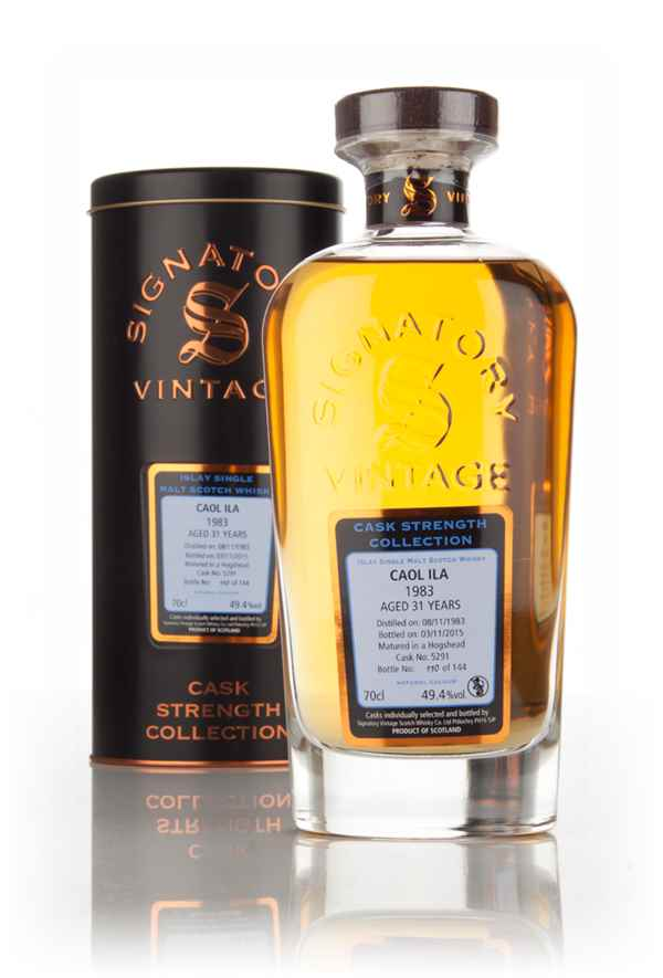 Caol Ila 31 Year Old 1983 (cask 5291) - Cask Strength Collection (Signatory)