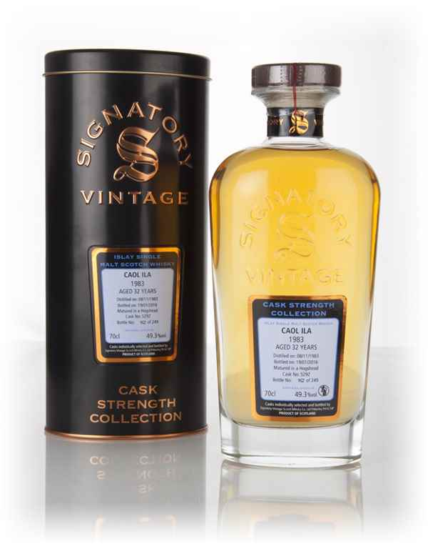 Caol Ila 32 Year Old 1983 (cask 5292) - Cask Strength Collection (Signatory)