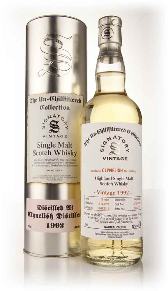 Clynelish 18 Year Old 1992 - Un-Chillfiltered (Signatory)