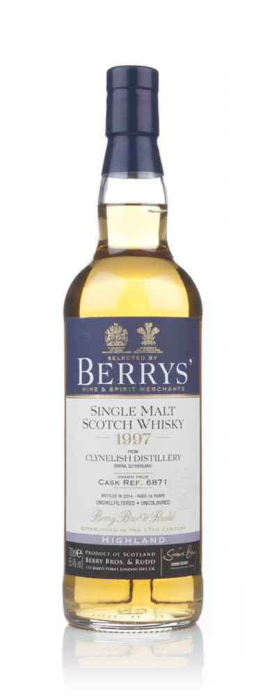 Clynelish 16 Year Old 1997 (cask 6871) (Berry Bros & Rudd)
