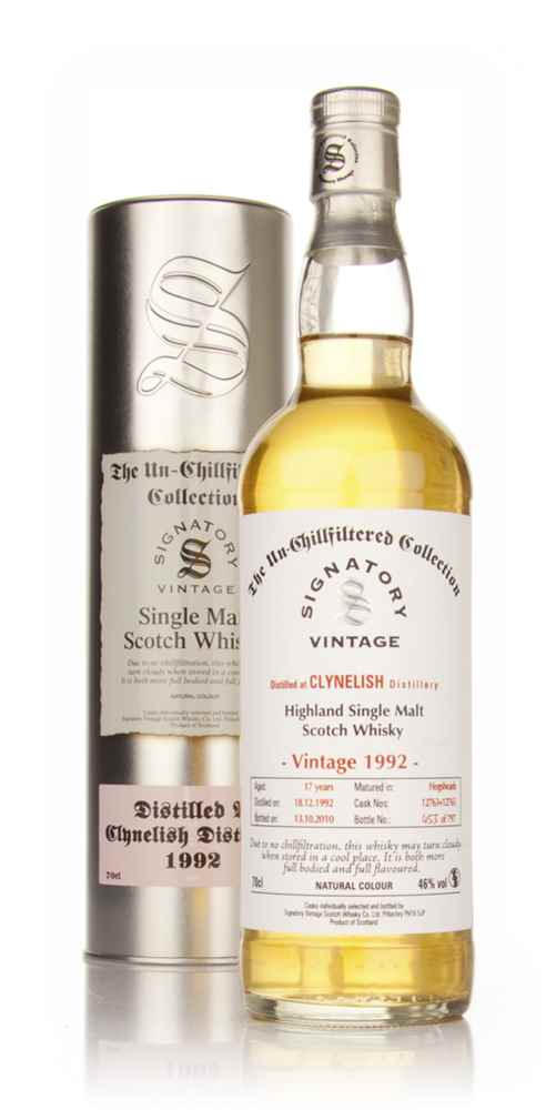 Clynelish 17 Year Old 1992 - Un-Chillfiltered (Signatory)