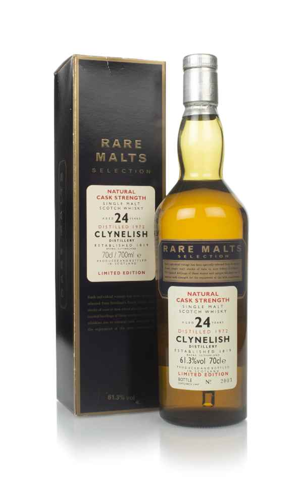 Clynelish 24 Year Old 1972 - Rare Malts