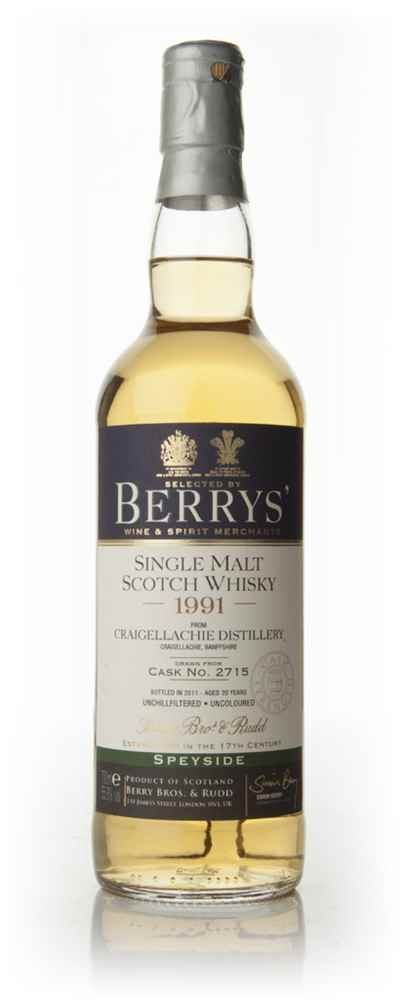 Craigellachie 20 Year Old 1991 (Berry Bros. & Rudd)