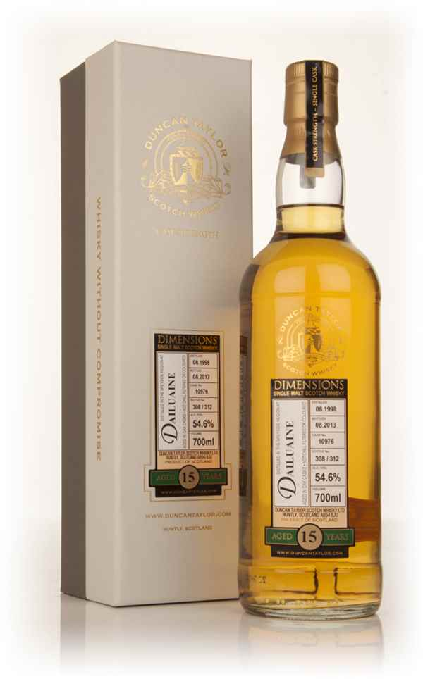 Dailuaine 15 Year Old 1998 (cask 10976) - Dimensions (Duncan Taylor)
