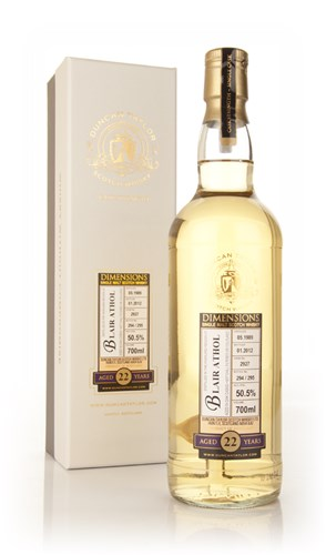 Blair Athol 22 Year Old 1989 Dimensions (Ducan Taylor)
