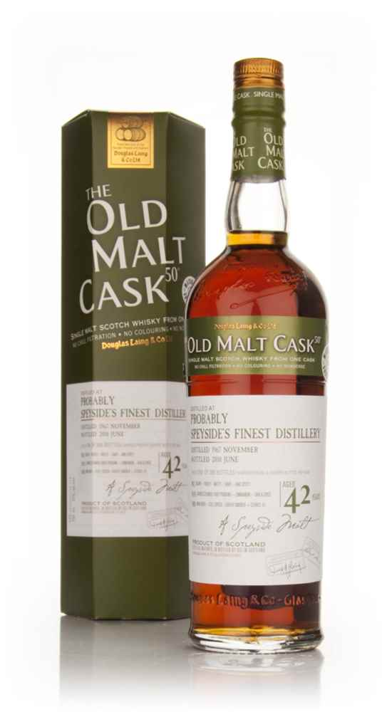 Probably Speyside's Finest Distillery 42 Year Old 1967 - Old Malt Cask (Douglas Laing)