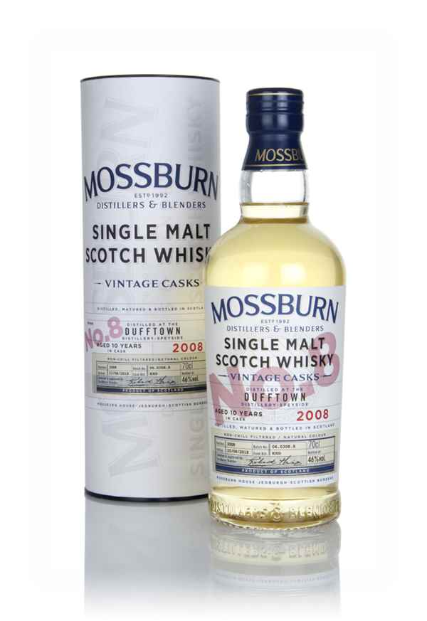 Dufftown 10 Year Old 2008 - Vintage Casks (Mossburn)
