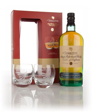 Singleton of Dufftown 12 Year Old with 2 Glasses
