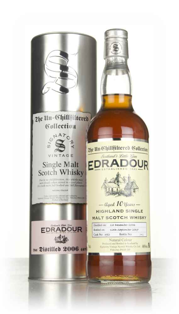 Edradour 10 Year Old 2006 (cask 392) - Un-Chillfiltered Collection (Signatory)