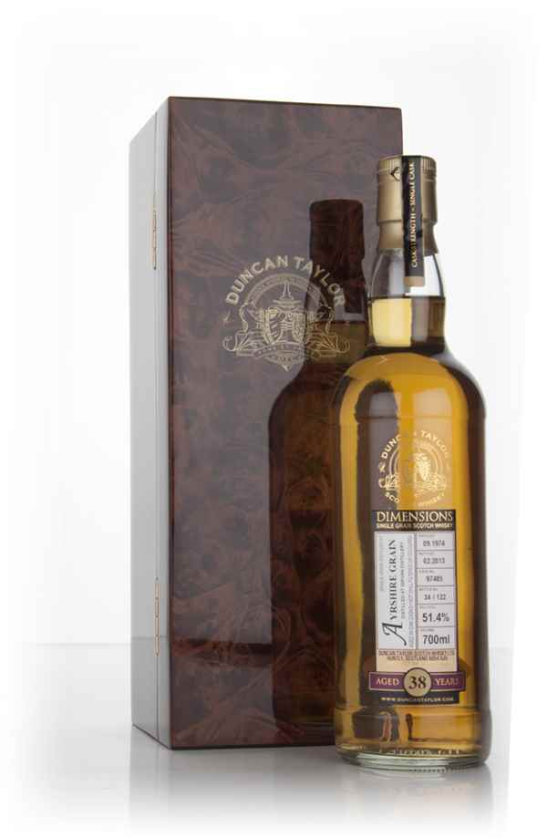 Ayrshire Grain 38 Year Old 1974 (cask 97485) - Dimensions (Duncan Taylor)
