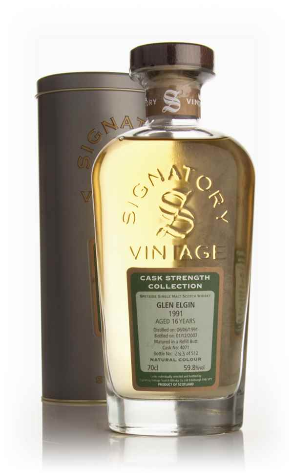 Glen Elgin 16 Year Old 1991 - Cask Strength Collection (Signatory)