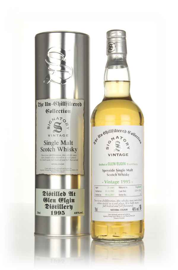 Glen Elgin 21 Year Old 1995 (cask 3259 & 3262) - Un-Chillfiltered Collection (Signatory)