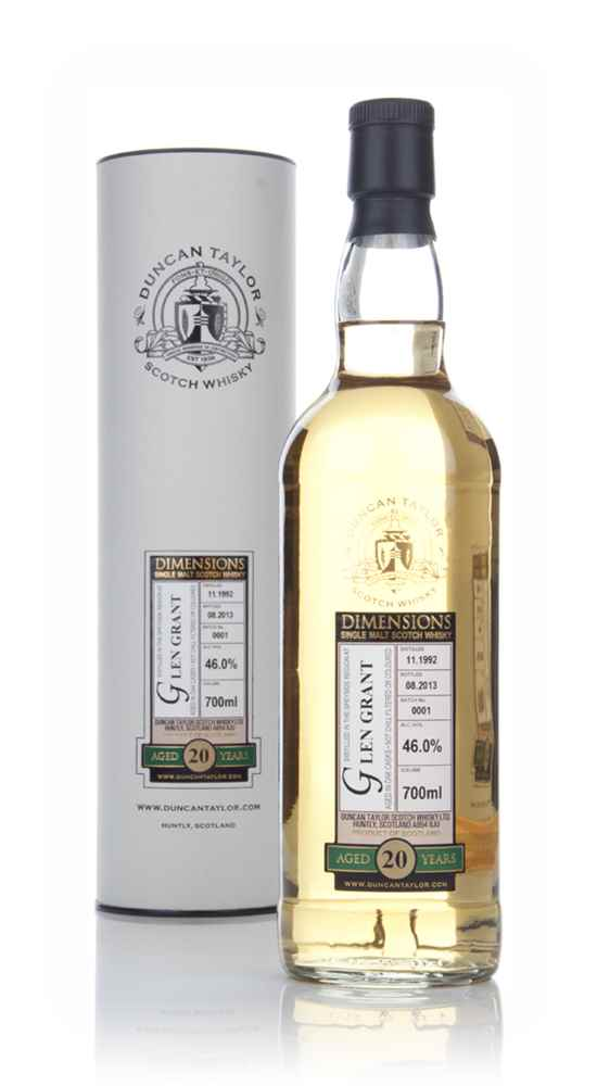 Glen Grant 20 Year Old 1992 (Batch 0001) - Dimensions (Duncan Taylor)