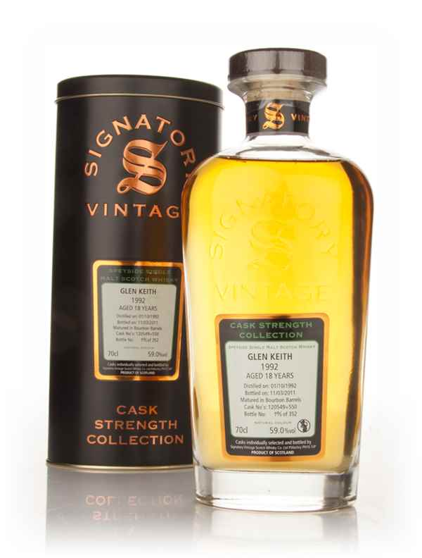 Glen Keith 18 Year Old 1992 - Cask Strength Collection (Signatory)
