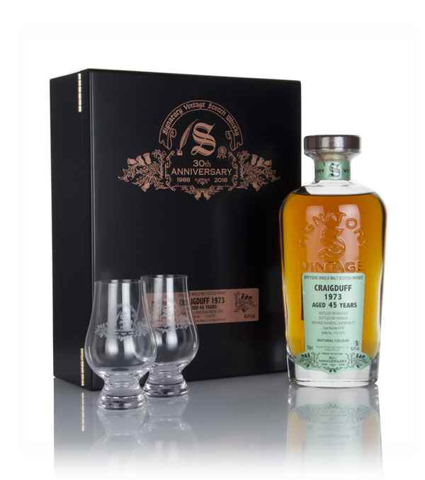 Craigduff 45 Year Old 1973 (cask 2518) - 30th Anniversary Gift Box (Signatory)