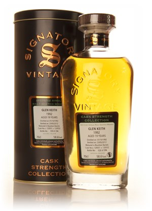 Glen Keith 19 Year Old 1992 (casks 120551+120552) - Cask Strength Collection (Signatory)