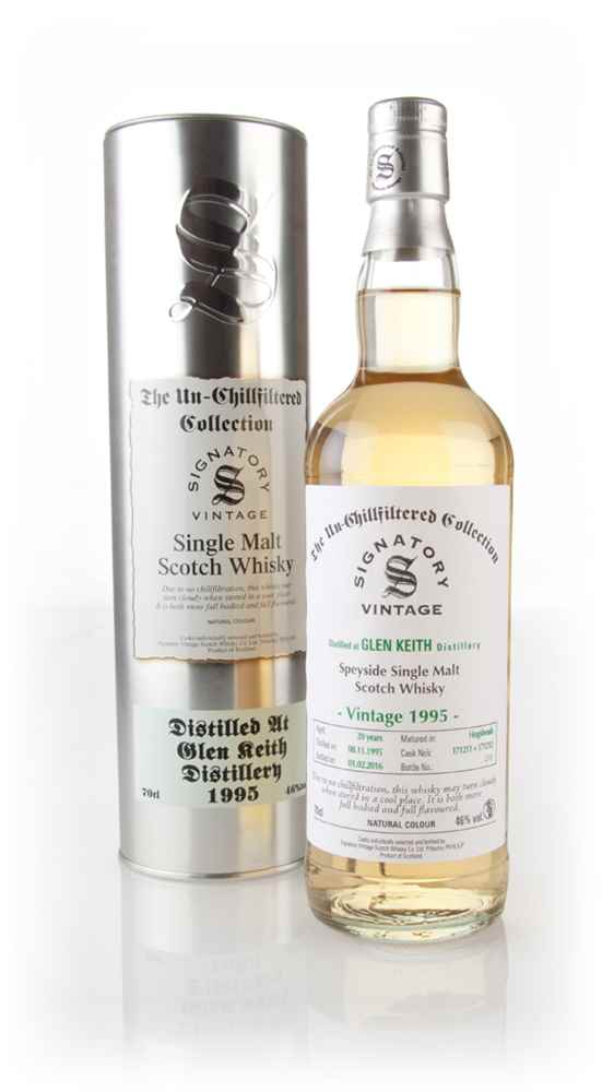 Glen Keith 20 Year Old 1995 (casks 171211 & 171212) - Un-Chillfiltered (Signatory)