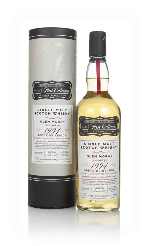 Glen Moray 25 Year Old 1994 (cask 16609) - The First Editions (Hunter Laing)